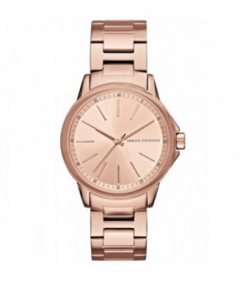 VOGUE Flash Rose Gold Purple Leather Strap 17004.3