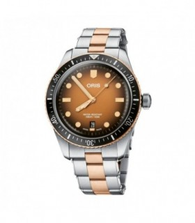 COLORI Brown Rose Gold Leather Strap COL350