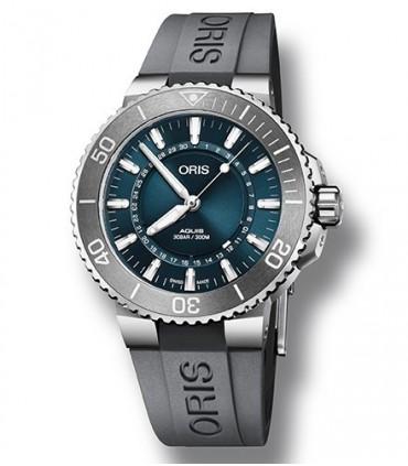 ORIS Aquis GMT Date Automatic Blue Silver Stainless Steel Bracelet 0179877544135-0782405PEB