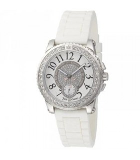 BULER Twinkle Chronograph Crystal White Rubber Strap  043251